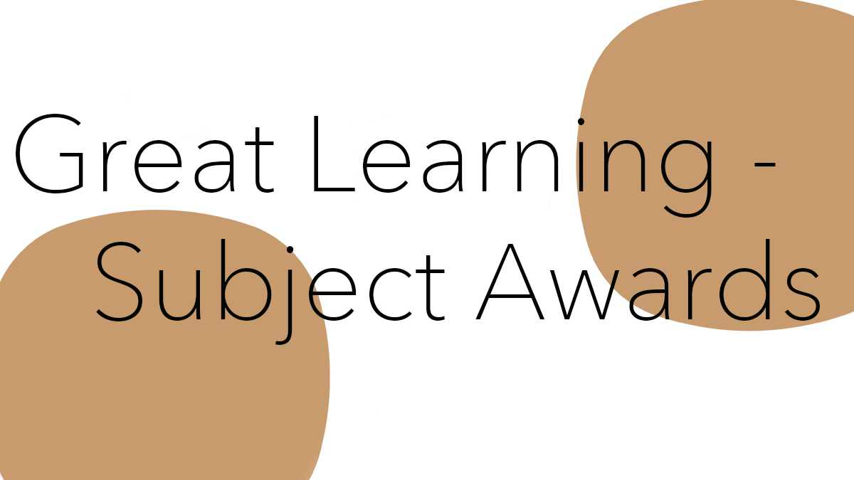 Great Learning – Subject Awards