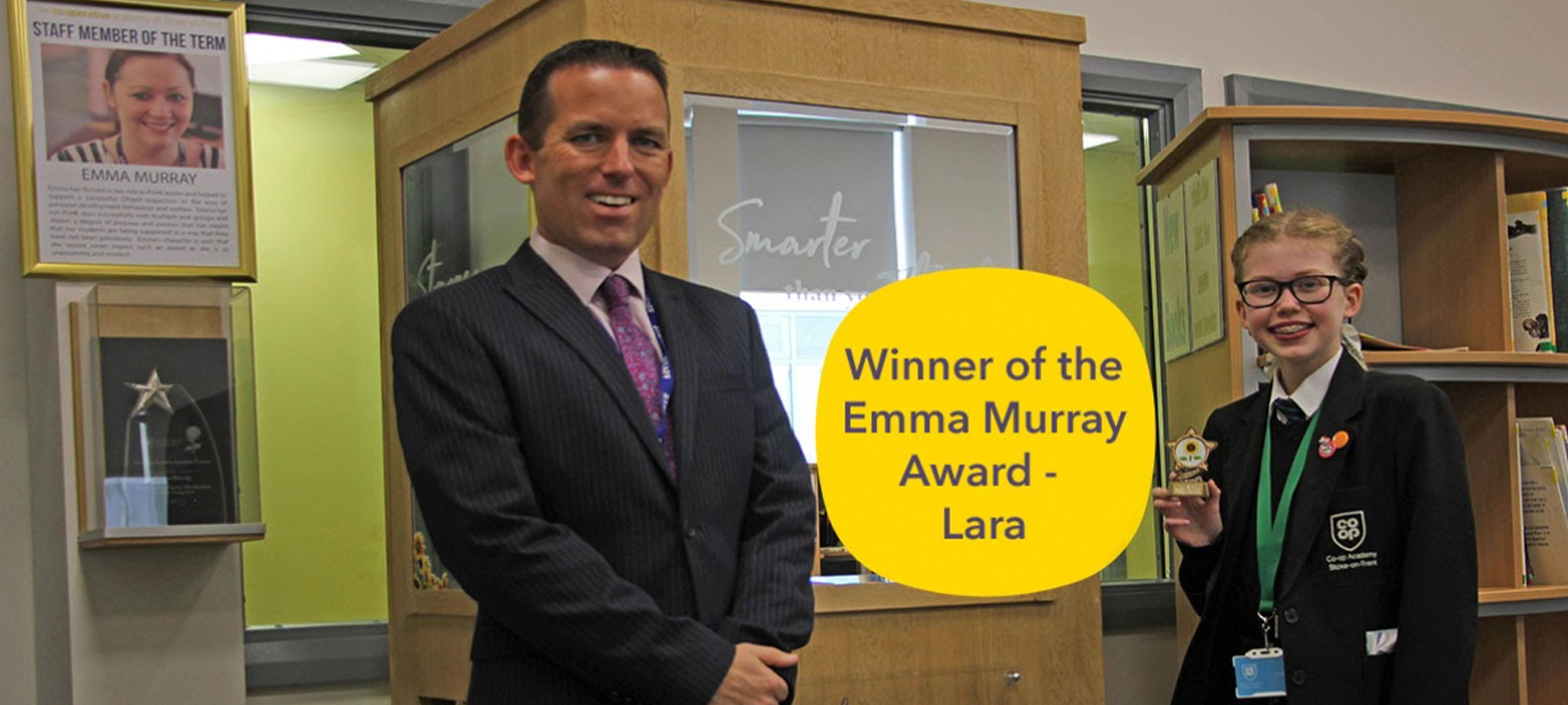 Lara receives the Emma Murray Award